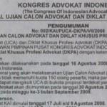 Potensi Masalah pada Ujian Advokat KAI 2008