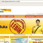 Menu website Bank Danamon
